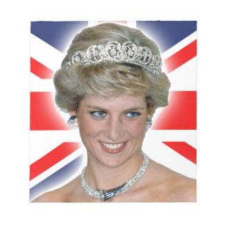 HRH Princess Diana Union Jack Note Pad