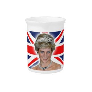 HRH Princess Diana Union Jack Pitchers
