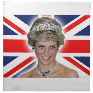 HRH Princess Diana Union Jack Printed Napkin