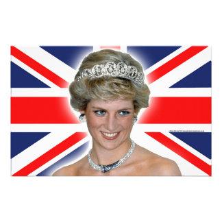 HRH Princess Diana Union Jack Customized Stationery