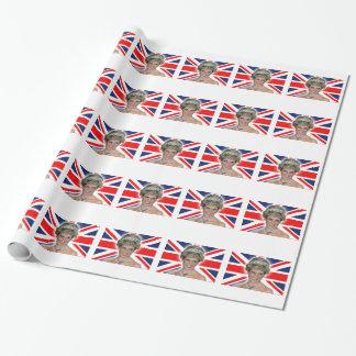 HRH Princess Diana Union Jack Wrapping Paper
