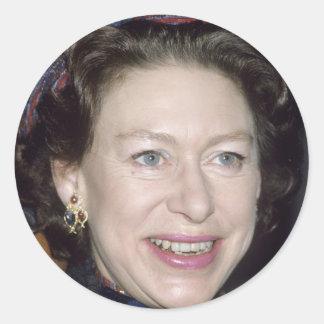 HRH Princess Margaret Round Sticker