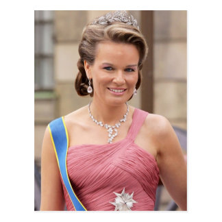 HRH Princess Mathilde of Belgium Postcard