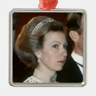 HRH Princess Royal Xmas Metal Ornament