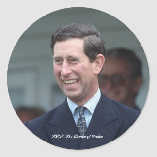 HRH The Prince of Wales Classic Round Sticker
