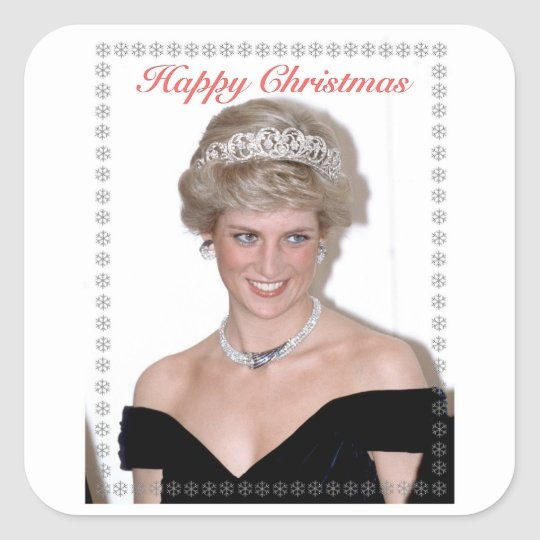 HRH The Princess of Wales Christmas Square Sticker