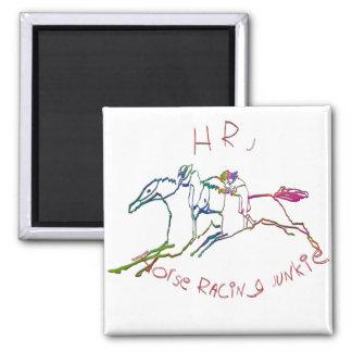 HRJ - Drogadicto de la carrera de caballos Imán Cuadrado