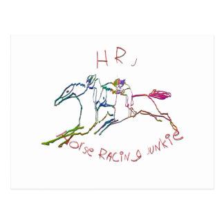 HRJ - Drogadicto de la carrera de caballos Tarjeta Postal