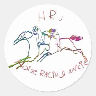 HRJ - Horse Racing Junkie Classic Round Sticker