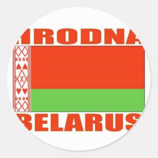 Hrodna, Belarus Classic Round Sticker