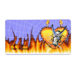 hrome yellow jacket design 2 with fire and web. labels