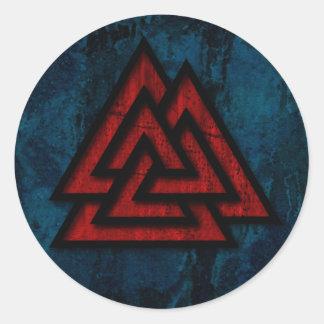 Hrungnir's Heart (grunge red metal & black) Classic Round Sticker