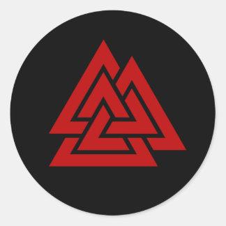 Hrungnir's Heart (red & black) Classic Round Sticker