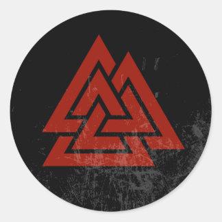 Hrungnir's Heart (red & black grunge) Classic Round Sticker