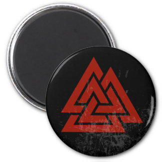 Hrungnir's Heart (red & black grunge) Magnet