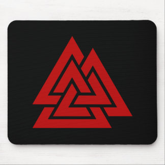 Hrungnir's Heart (red & black) Mouse Pad