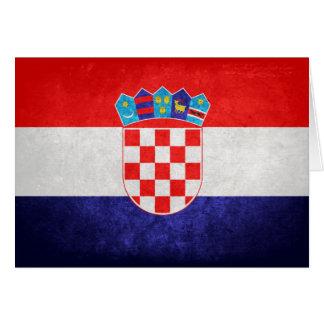 Hrvatska; Croatia Flag Card