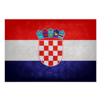 Hrvatska; Croatia Flag Poster