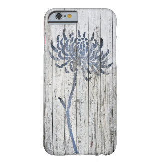 hrysanthemum and Whitewashed Wood Barely There iPhone 6 Case