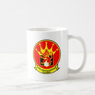 HS-15 Red Lions Classic White Coffee Mug