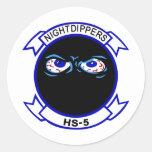 HS-5 Nightdippers Etiquetas Redondas