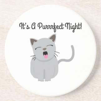 H's G Purrfect Night! Beverage Coasters