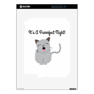 H's G Purrfect Night! Decals For iPad 2