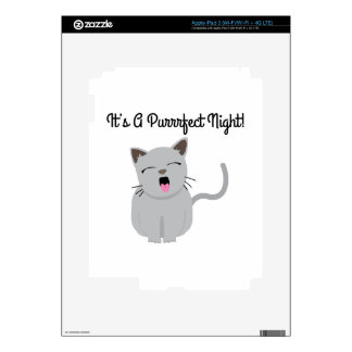 H's G Purrfect Night! Decals For iPad 3