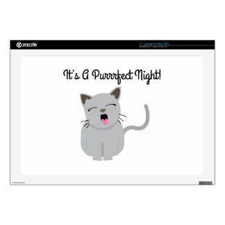 """H's G Purrfect Night! Decals For 17"""" Laptops"""