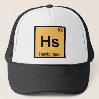 Hs - Hamburgers Chemistry Periodic Table Symbol Trucker Hat