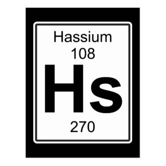 Hs - Hassium Postcard