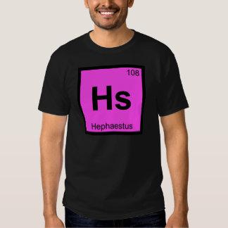 Hs - Hephaestus God Chemistry Periodic Table T Shirt