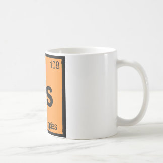 Hs - Hush Puppies Chemistry Periodic Table Symbol Coffee Mug