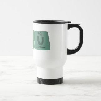 Hsiu como uranio del yodo de Hassium Tazas De Café