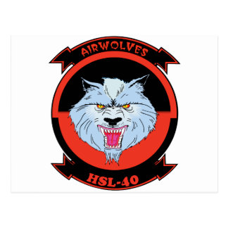 HSL-40 Airwolves Tarjeta Postal
