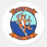 HSL-44 SWAMP FOX ROUND STICKERS