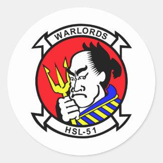 HSL-51 Warlords Classic Round Sticker
