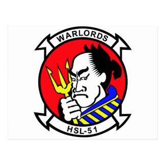 HSL-51 Warlords Postcard
