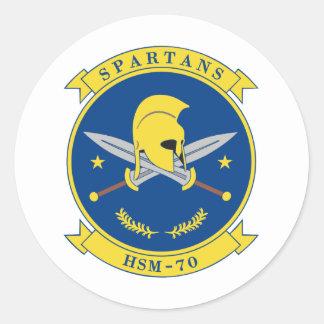 HSM-70 Spartans Pegatina Redonda