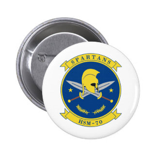 HSM-70 Spartans Pin Redondo 5 Cm