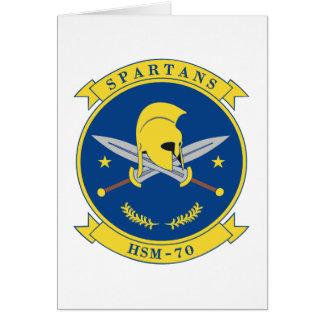 HSM-70 Spartans Tarjeta De Felicitación