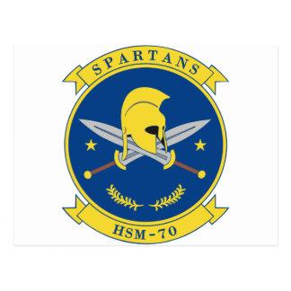 HSM-70 Spartans Tarjeta Postal