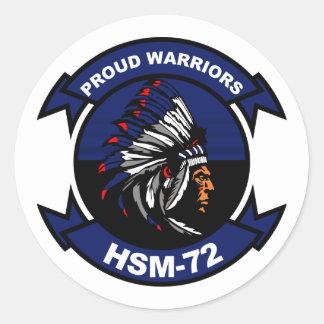 HSM - 72 guerreros orgullosos Pegatina Redonda