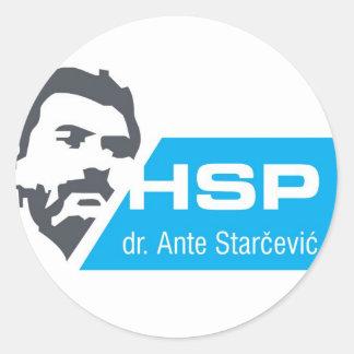 HSP dr. Ante Starcevic Classic Round Sticker