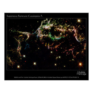 HST Supernova Remnant Cassiopeia A Poster