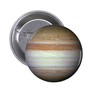 HST WFC3 Jupiter Image (June 7, 2010) Pinback Button