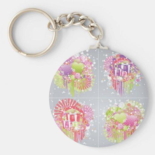 ht-075 basic round button keychain