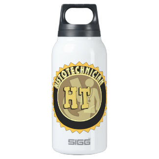HT BADGE  HISTOTECHNICIAN HISTOLOGY TECH LOGO INSULATED WATER BOTTLE