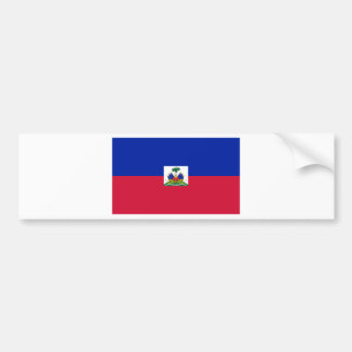 HT de la bandera de Haití Pegatina De Parachoque
