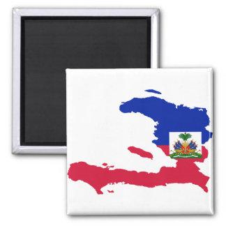 HT del mapa de la bandera de Haití Imán